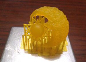Peza sol e lúa en resina para microfusión